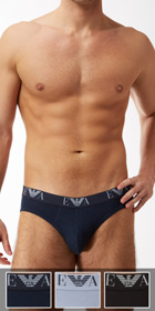 Emporio Armani Jersey Cotton 3-Pack Hip Briefs