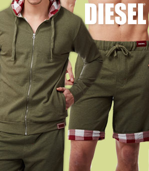 Shop Diesel Plaid Lounge Loungewear