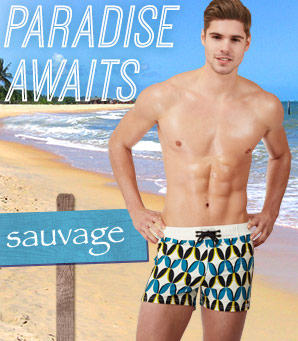 Paradise awaits. Shop Sauvage.
