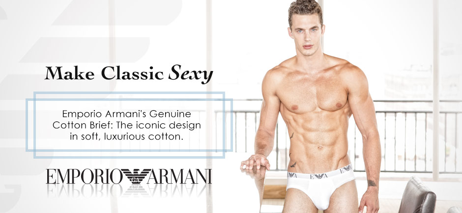 Make Classic Sexy with Emporio Armani's Genuine Cotton Briefs