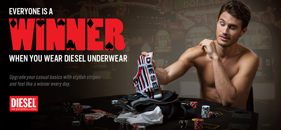 New Diesel Stripes Underwear