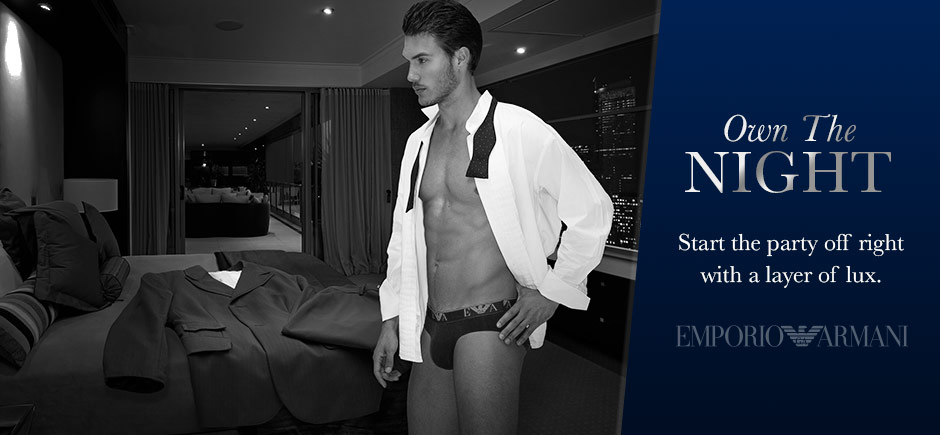 Own the night with Emporio Armani