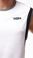 N2N Bodywear White Trainer Muscle