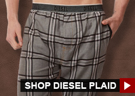 Shop Diesel Plaid Loungewear