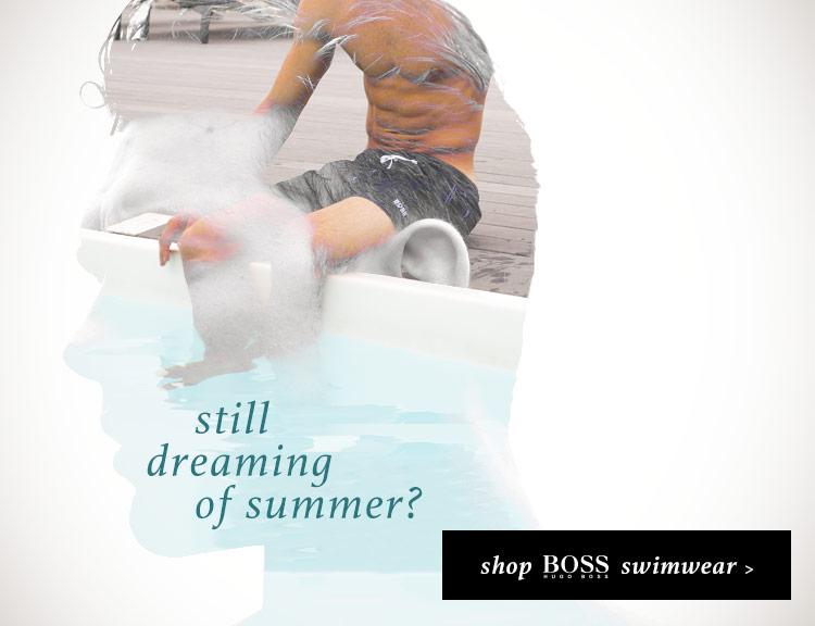 Still Dreaming of Summer? Shop BOSS Swimwear