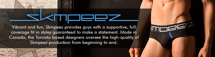 Skmpeez - Vibrant and fun, Skmpeez provides guys with a supportive, full coverage fit in styles guaranteed to make a statement. Made in Canada, the Toronto-based designers oversee the high-quality of Skmpeez production from beginning to end.