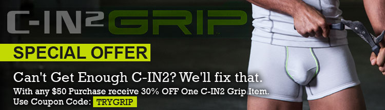 Special Offer: With any $50 purchase, receive 30% off one C-IN2 Grip item