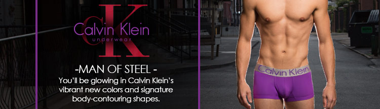 Calvin Klein Man of Steel. You'll be glowing in Calvin Klein's vibrant new colors and signature body-contouring shapes.
