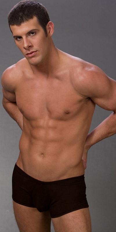 Male Power Rib Cotton Pouch Short