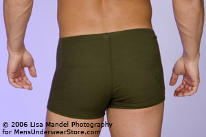 Male Power Rib Cotton Pouch Short