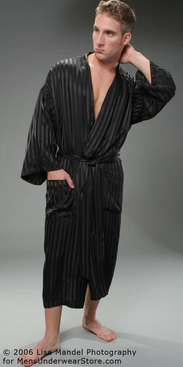 ManSilk Silk Stripe Robe