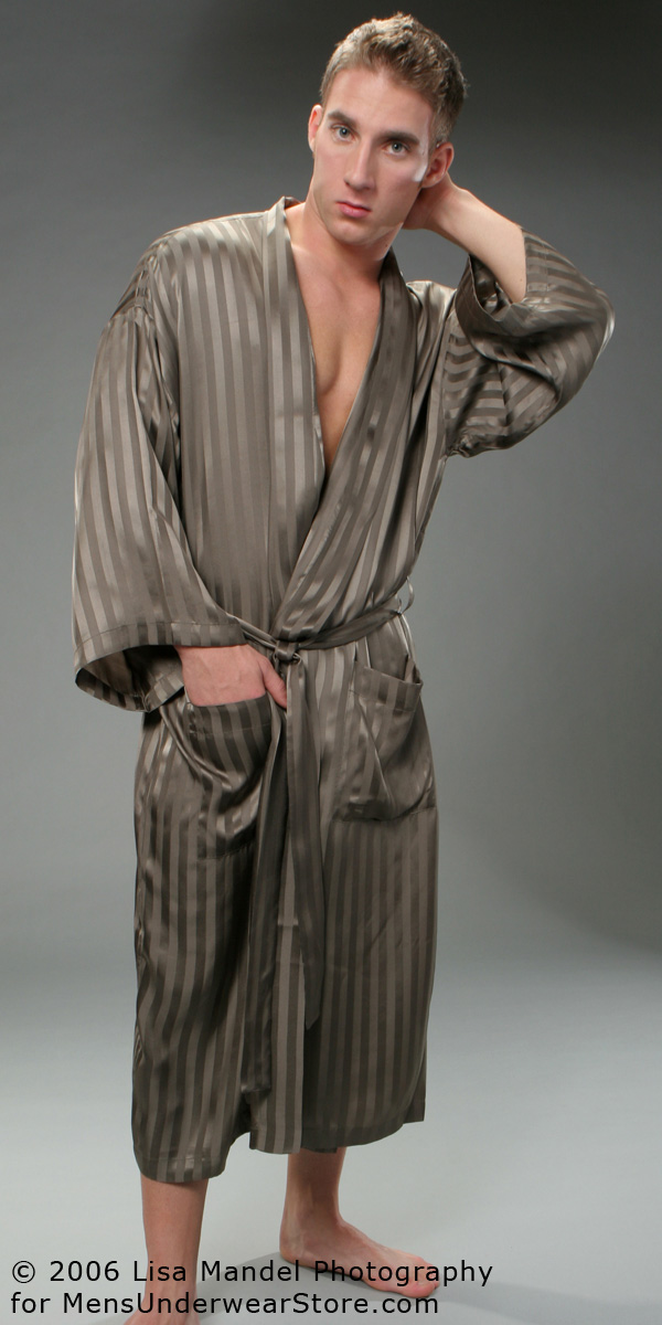 ManSilk Silk Stripe Robe