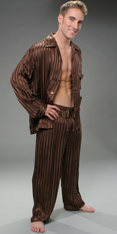 ManSilk Silk Stripe Pajama Set