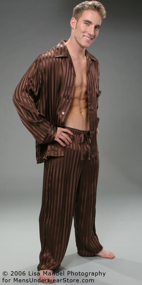 ManSilk Silk Stripe Pajama Set