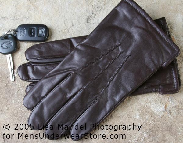 Milwaukee Glove Company Brown Cowhide Dress Gloves