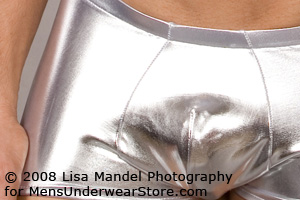 Male Power Metallic Mini-Short