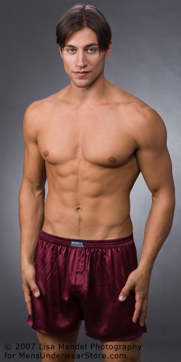 ManSilk Solid Silk Boxers