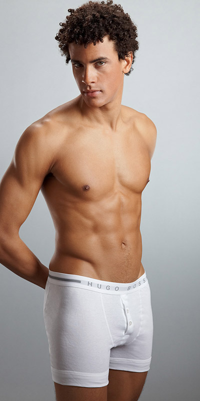HUGO BOSS Basics Button Fly Boxer Brief