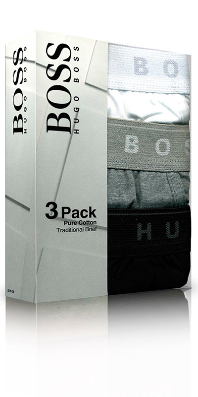 HUGO BOSS Traditional Brief Multi-Color 3-Pack