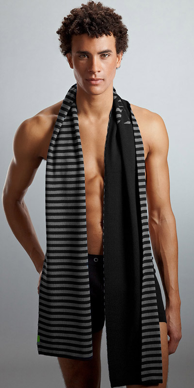 HUGO BOSS Reversible Wool Scarf