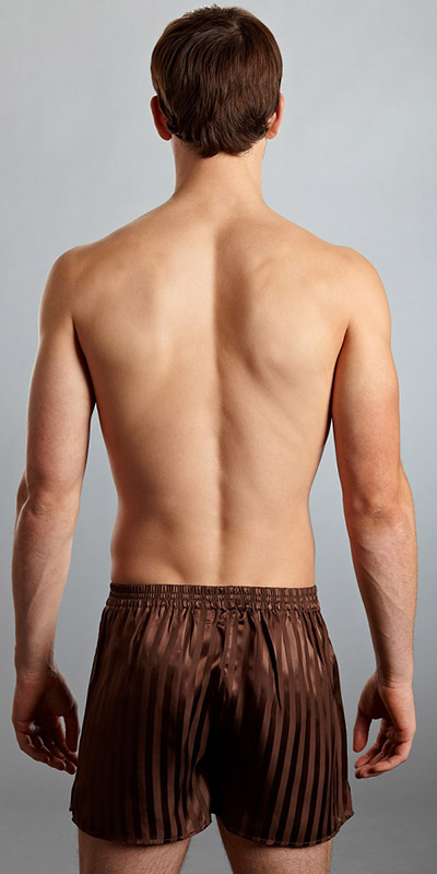 ManSilk Silk Striped Jacquard Boxer