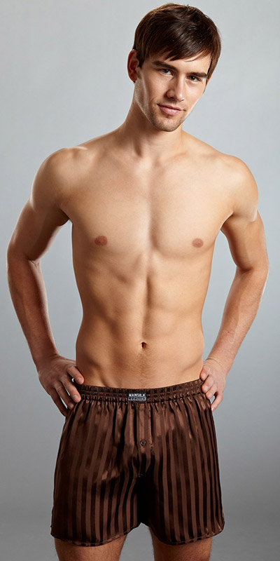 ManSilk Silk Striped Jacquard Boxer