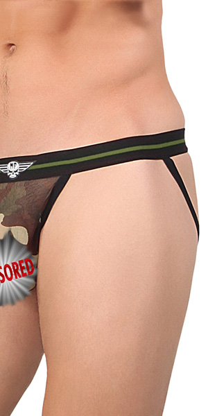 Male Power Sheer Camo Jock
