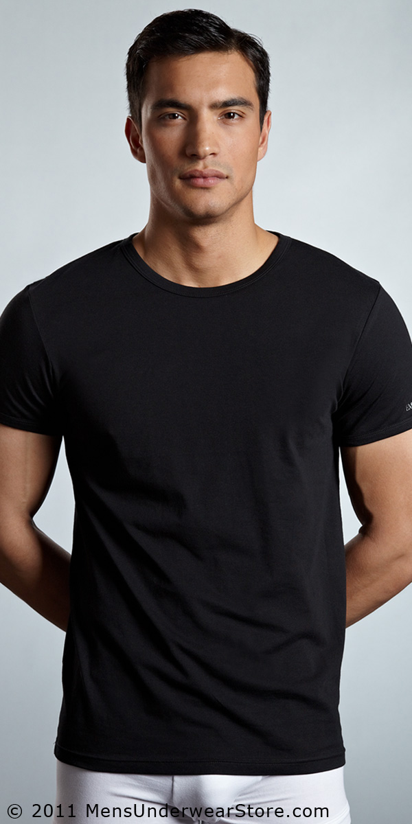 Emporio Armani Stretch Cotton Crew Neck T-Shirt
