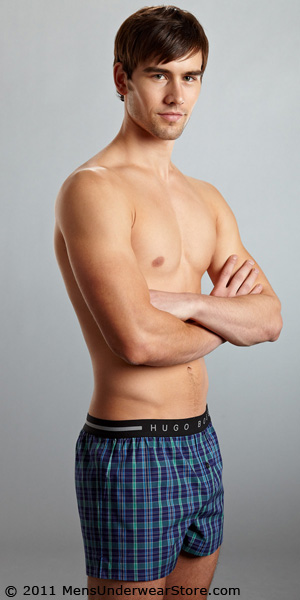 HUGO BOSS Slim Fit Stretch Woven Boxer