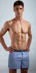 Emporio Armani Exposed Waistband Woven Boxer