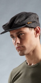 HUGO BOSS Linen Newsboy Cap