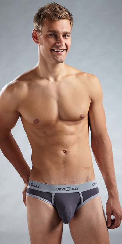Obviously Retro Low Rise Brief with Anatomical Pouch