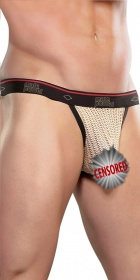 Male Power Herringbone Micro Thong
