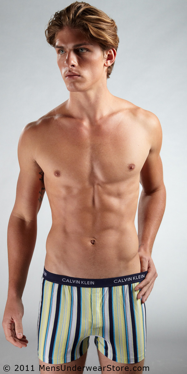 Calvin Klein Matrix Slim Fit Knit Boxer