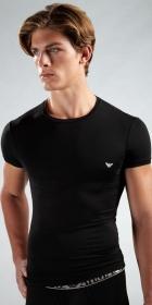 Emporio Armani Melange Modal Short Sleeve Crew Shirt