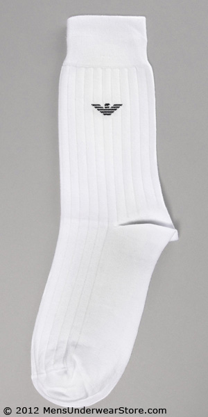 Emporio Armani Basic Rib Cotton Sock