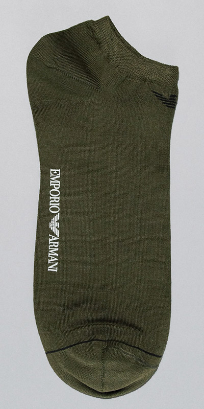 Emporio Armani In Shoe Basic Cotton Sock