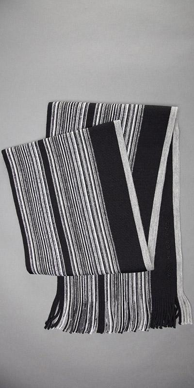 HUGO BOSS Virgin Wool Knit Scarf
