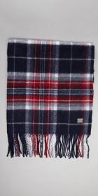 HUGO BOSS Modern Plaid Wool Scarf