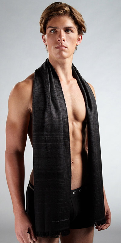 HUGO BOSS Lightweight Wool Scarf