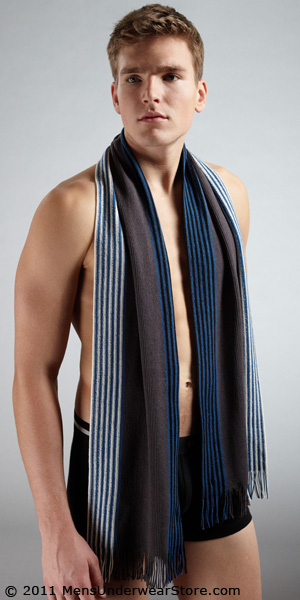 HUGO BOSS Napale Knit Virgin Wool Scarf