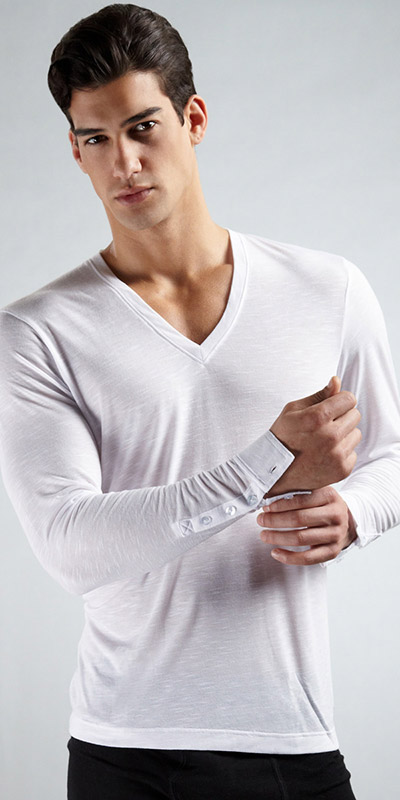 2XIST Long Sleeve V-Neck Shirt