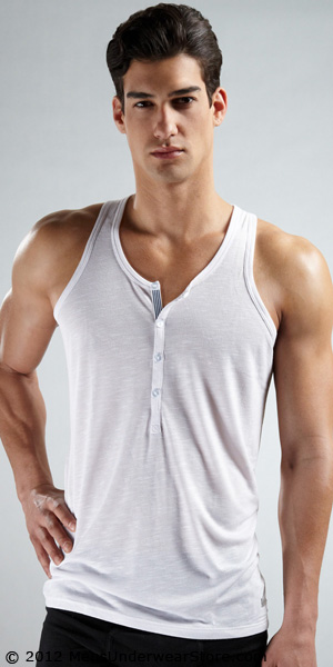 2XIST Henley Tank Top