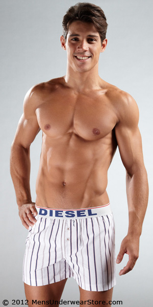 Diesel Baseball Striped Luv Boxers