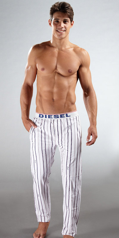 Diesel Baseball Striped Pants