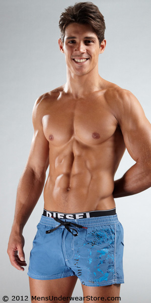 Diesel Barely Short Warrior Swim Trunk
