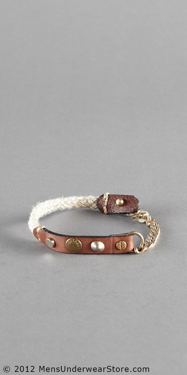 Diesel Linen N Leather Bracelet