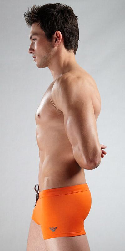 Emporio Armani Swim Trunk With Logo