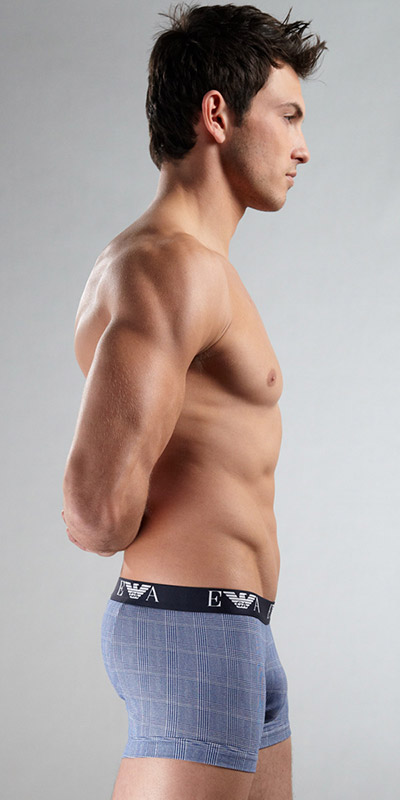 Emporio Armani Printed Stretch Cotton Trunk