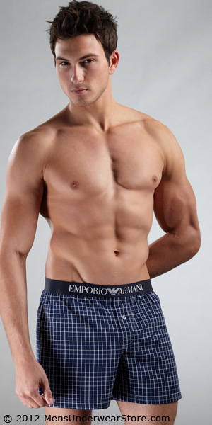Emporio Armani Yarn Dyed Woven Boxer